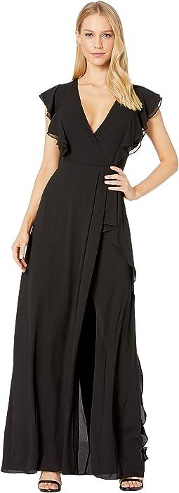 Callie Ruffled Gown