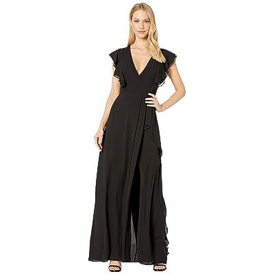 BCBGMAXAZRIA Callie Ruffled Gown (Black) Women