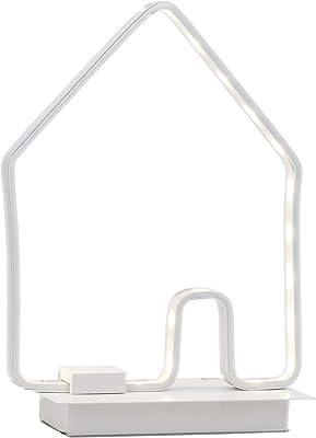 Brilliant Casita Lámpara de mesa, 6 W, Blanco