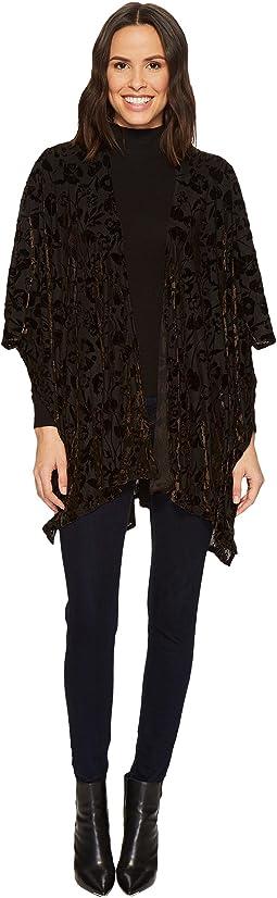 Collection XIIX - Solid Floral Velvet Kimono