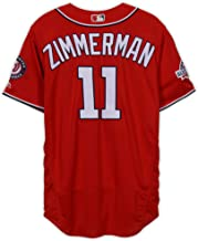 Ryan Zimmerman Washington Nationals Game-Used #11 Red Jersey with All-Star Game Patch vs. Atlanta Braves on September 15, 2018 - Fanatics Authentic Certified