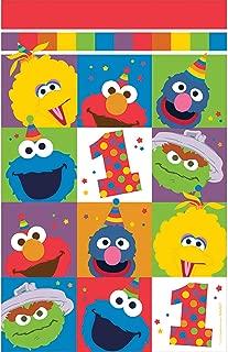 Amscan Sesame Street Elmo Turns One Plastic Table Cover, Birthday