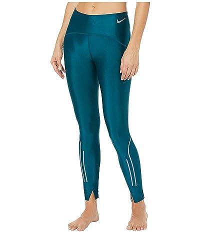 Nike Speed Tights 7/8 (Midnight Turquoise/Gunsmoke) Women