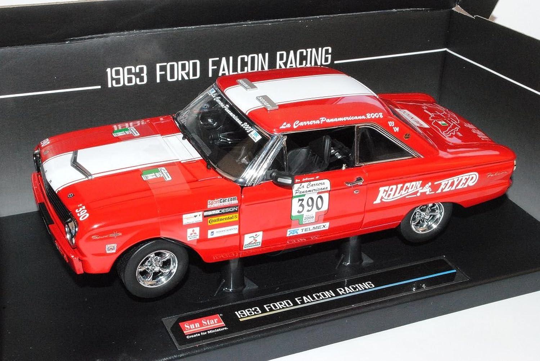 Sun Star Ford Falcon Racing 1963 Coupe Rot Racing Panamericana 2008 1 18 Modell Auto mit individiuellem Wunschkennzeichen B00944U77E Sofortige Lieferung  | Ästhetisches Aussehen