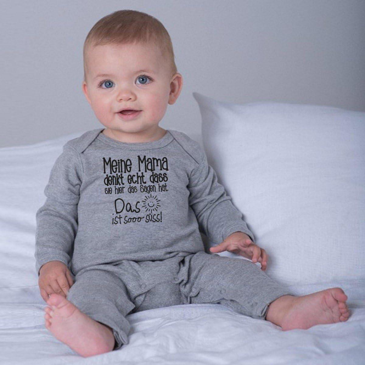 DASS sie Hier das Sagen hat. Mikalino Baby Schlafanzug Meine Mama Denkt echt