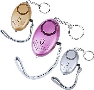 Alarme personnelle Bysameyee 120DB Emergency Self Defense Alarm Keychain 2pack sir/ène de s/écurit/é Anti-Viol Dispositif Anti-vol pour Les Femmes Enfants /âg/és