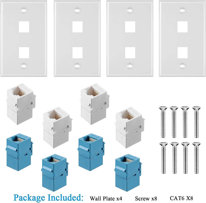 Accessories & Supplies Wall Plates & Connectors RJ45 Cat6 Female ...
