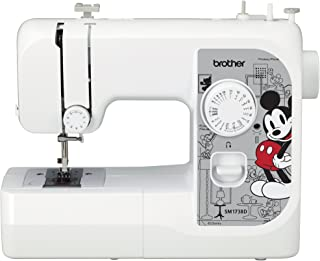 Brother Sewing Machine, SM1738D, Sewing Machine with 4 Disney Faceplates, 17 Built-in Stitches, Disney Dust Cover, 4 Sewing Feet, LED Work Area