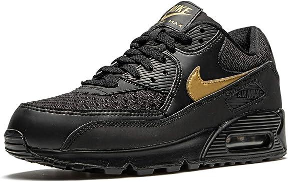 Nike - Air Max 90 Lifestyle Chaussures pour homme, Noir (Noir/doré ...