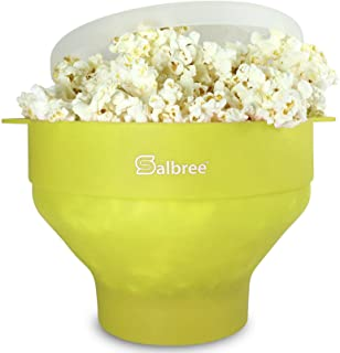 Original Salbree Microwave Popcorn Popper, Silicone Popcorn Maker, Collapsible Bowl BPA Free - 18 Colors Available (Lime) …