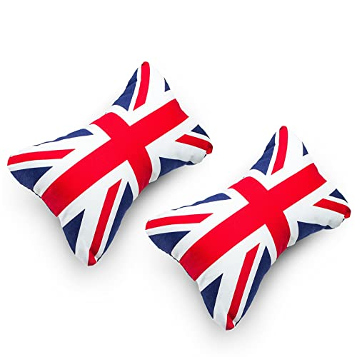 Paileco Car seat neck pillow (2pc, Union Jack, Coton)