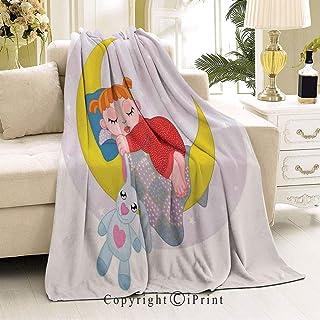 RWNFA Soft Flannel Fleece All Season Blanket,Will not Fade,Suitable for Bedroom,