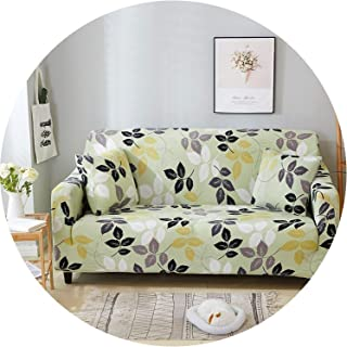 Get-in Elegant Modern Sofa Cover Spandex Elastic Polyester Floral 1/2/3/4 Seater Couch Slipcover Chair Living Room Furniture Protector,Model 18,4 Seat (235-300Cm)