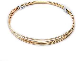 1 Ounce (2 Ft) Bronze Wire 10 Gauge, Half Round, Dead Soft - from Craft Wire