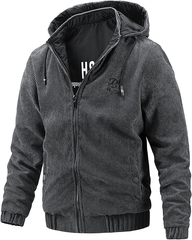 Men's Jackets,Casual Hooded Detachable Jacket,Elegant Temperament Pros and Cons Wear Coats