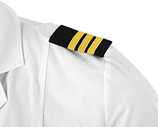 CHICTRY Pilot Uniform Epaulets Traditional Professional Pilot Aviators Epaulettes Shoulder Boards Badge with Gold Stripes