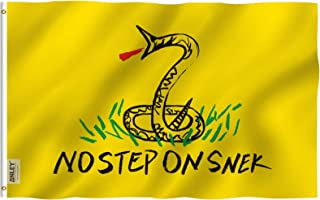 Best Anley Fly Breeze 3x5 Foot No Step On Snek Flag - Vivid Color and Fade Proof - Canvas Header and Double Stitched - Tea Party Flags Polyester with Brass Grommets 3 X 5 Ft Review