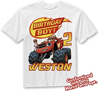 fd7b11926 Blaze and the Monster Machines Birthday Shirt, Blaze Custom Shirt,  Personalized Blaze, Blaze
