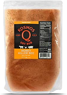 Kosmos Q Honey Killer Bee BBQ Rub   Sweet & Savory Blend   Great on Brisket, Steak, Chicken, Ribs & Pork   Best Barbecue Rub   Meat Seasoning & Spice Dry Rub   1 lb Bag