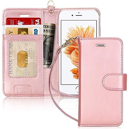 FYY Coque iPhone 6S, Coque iPhone 6, [Séries Haut de Gamme] Étui en Cuir de première qualité avec Coverture Toute-Puissante pour iPhone 6/6S Rose Or