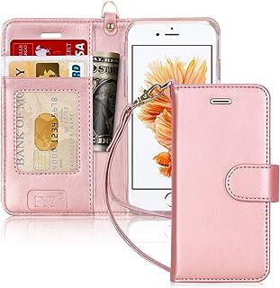 FYY Funda iPhone 6, Funda iPhone 6S, Hecho a Mano Funda Estuche con el Soporte Protector Cubierta de la Tarjeta de Crédito...