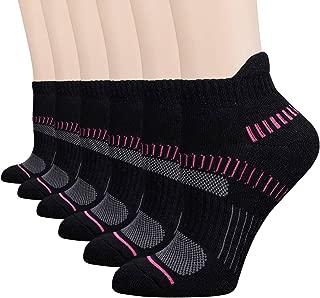 FLYRUN Womens Athletic-Ankle-Socks-Women 6 Pack Performance Cushioned Low-Cut Running Tab Socks
