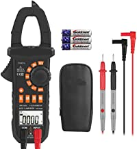 Clamp Meter Amp meter Digital Multimeter 4000 Counts with NCV Auto-Ranging Testing AC/DC Current&Voltage, Continuity Electrical Tester, Diode, Resistance, Capacitance, Frequency- Tacklife CM01A