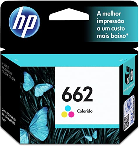 Cartucho HP 662 Colorido Original - (CZ104AB)