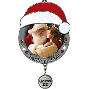 Hallmark Ornament 2020 Year-Dated Babys First Christmas Santa Train Photo Frame
