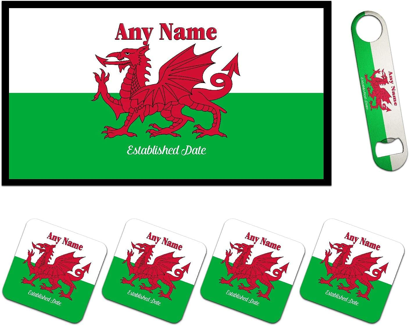 Personalized Cheap mail order sales Flag of Wales Cymru Y Ddraig Welsh Cash special price Goch Red Dragon