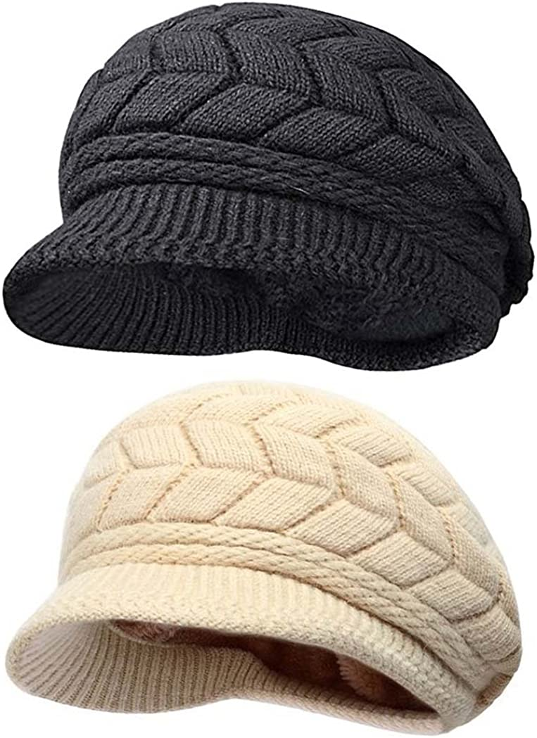 HINDAWI Womens Winter Hat New Orleans Mall Girls Warm Outdoor Wool Today's only S Crochet Knit
