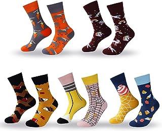 Calcetines de Mujer AB Calcetines Estampados Coloreados Algodón Calcetines Nuevo y de Calcetine Moda para Mujeres y Niñas 5 Pares