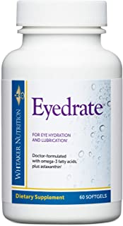 Dr. Whitaker's Eyedrate Hydration and Lubrication Supplement with Omega-3, Omega-7 and Antioxidants, 60 Softgels (30-Day S...