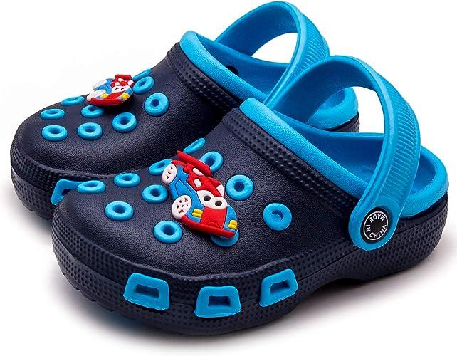 Mictchz Toddler Little Kids Clogs Slip On Girls Boys Garden Clogs Summer Non-Slip Lightweight Slide Sandals Shoes Pool Shower Beach Slippers
