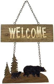 Sunset Vista Designs Wilderness Wonders Bear Welcome Sign, 18-1/2-Inch Tall