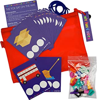 My Busy Bots The Fox Sat on The Mat Bag of Letters, Sounds and Blends All for Developing and Building Those Reading Skills, While Learning fine Motor Skills