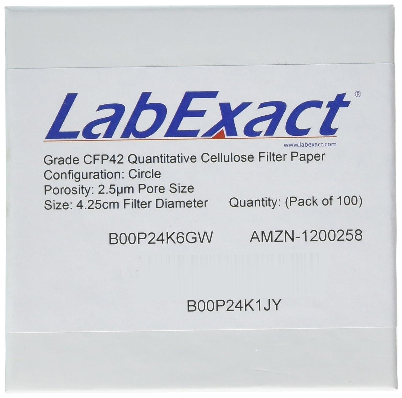 LabExact 1200081 Grade CFP42 Cellulose Paper Filter favorite Quantitative New mail order