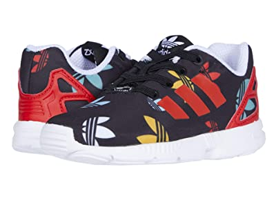 adidas Originals Kids ZX Flux EL (Toddler) (Black/Lush Red/White) Kids Shoes