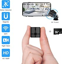 Ehomful Mini Spy Camera Wireless Hidden Camera for Home WiFi Mini Camera 1080P Portable Small Security Cameras Body Camera with App Night Vision/Motion Detective Nanny Cam for iPhone and Android Phone
