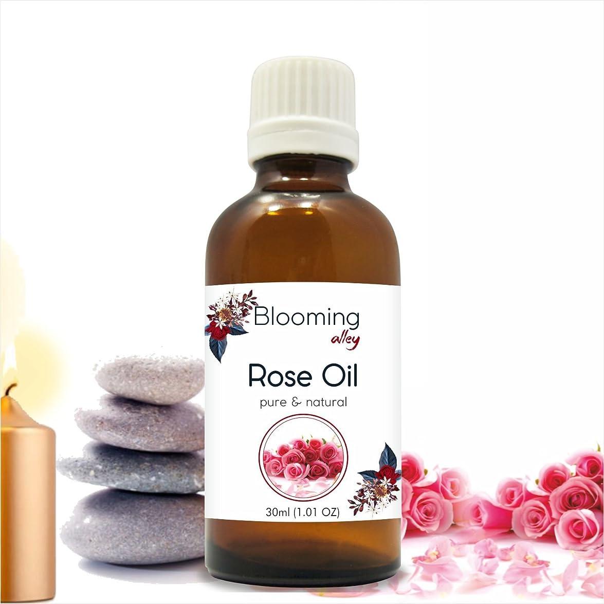 ショート代表して多様性Rose Oil (Rosa Damacenia) Essential Oil 30 ml or 1.0 Fl Oz by Blooming Alley
