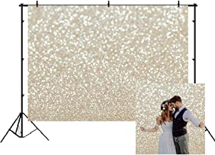 White Gold Abstract Photography Backdrop Golden Spots Shinning Background Weeding Baby Shower Newborn Baby Portrait Photo Studio Props White Gold Christmas Abstract Bokeh Background 7x5ft