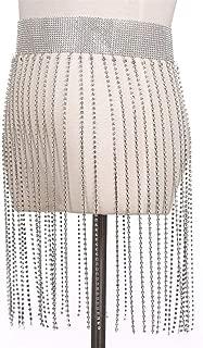 Nightclub Party Body Chain Jewelry Bikini Waist Belly Beach Harness Slave Necklace Women (Color : Silver, Size : Free Size)