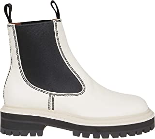 PROENZA SCHOULER Luxury Fashion Womens PS33050B10066 White Ankle Boots | Fall Winter 19