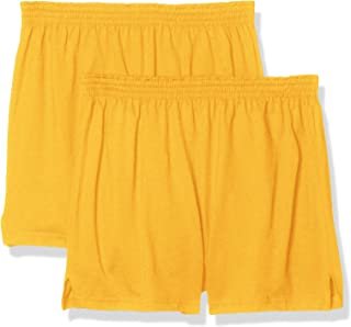 Soffe Juniors' Authentic Cheer Short, Light Gold, X-Small (2-Pack)