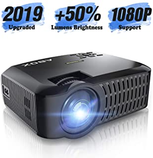 HD Projector, ABOX LCD Mini Portable HDMI Projector, 1920 x 1080p Supported, HDMI/VGA/Micro SD/AV/USB, Laptop/TV Box/Phone...