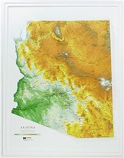 Hubbard Scientific Raised Relief Map 961 Arizona State Map