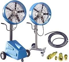HydroMist HMI-2405-2400-8PKG 2 Fan Ultimate Extreme High Pressure Misting Fan Package, 1000 psi