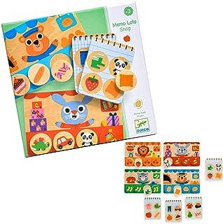 DJECO ジェコ メモ ショップ 記憶ゲーム カードゲーム 脳トレ 知育玩具 子供 3歳 お買い物 お店屋さん (DJ01642)