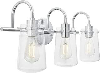 Lentia 3 Light Hallway Wall Sconce   Chrome Bathroom Vanity Light with LED Bulb LL-WL663-2PC