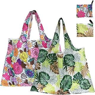 BEESLIFE エコバッグ買い物袋 おしゃれ エコバッグ 折りたたみ 超大容量 洗えるショッピングバッグ 特大 シームレスボトム 軽量 耐久 防水エコバッグ